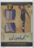 Rookie Jersey Autographs Double Prime - Isaiah Whitehead #/25