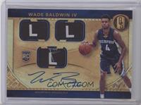 Rookie Jersey Autographs Triple Tags - Wade Baldwin IV /1