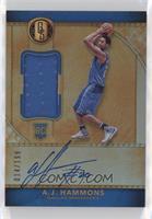 Rookie Jersey Autographs - A.J. Hammons #/199
