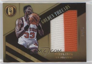 2016-17 Panini Gold Standard - Golden Jumbo Threads - Black #5 - Patrick Ewing /15