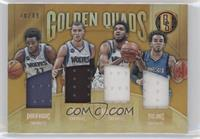 Andrew Wiggins, Zach LaVine, Karl-Anthony Towns, Tyus Jones #/49