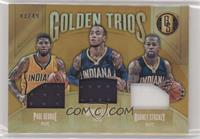 Rodney Stuckey, Monta Ellis, Paul George #/49