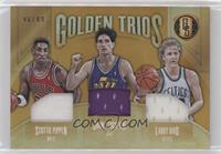 Larry Bird, John Stockton, Scottie Pippen #/49