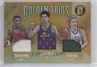 Larry Bird, John Stockton, Scottie Pippen #/49