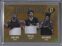 Kevin Love, Iman Shumpert, LeBron James #16/49