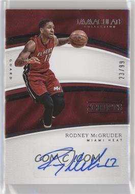 2016-17 Panini Immaculate Collection - Scripts #SC-RMC - Rodney McGruder /99