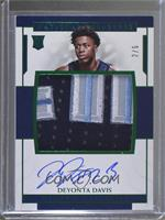 Rookie Patch Autographs - Deyonta Davis /5