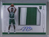 Rookie Patch Autographs Horizontal - Jaylen Brown #/49