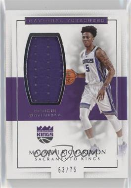2016-17 Panini National Treasures - Rookie Materials #3 - Malachi Richardson /75