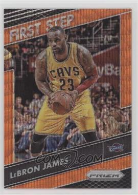 2016-17 Panini Prizm - First Step - Orange Wave Prizm #6 - LeBron James /25
