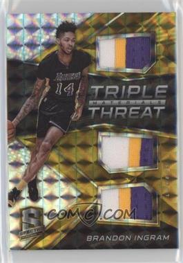 2016-17 Panini Spectra - Triple Threat Materials - Gold #13 - Brandon Ingram /10