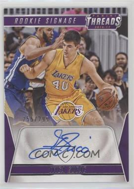 2016-17 Panini Threads - Rookie Signage #19 - Ivica Zubac /299