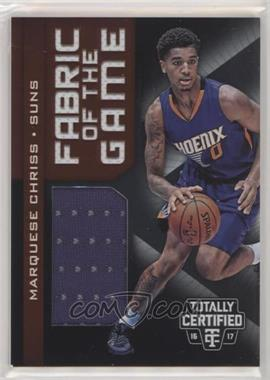2016-17 Panini Totally Certified - Fabric of the Game Rookie Materials #7 - Marquese Chriss