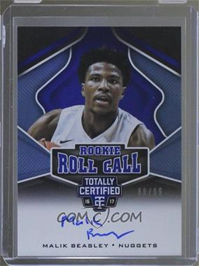 2016-17 Panini Totally Certified - Rookie Roll Call Autographs - Blue #15 - Malik Beasley /99