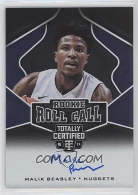 2016-17 Panini Totally Certified - Rookie Roll Call Autographs #15 - Malik Beasley