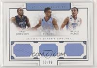 Brice Johnson, J.P. Tokoto, Marcus Paige /99
