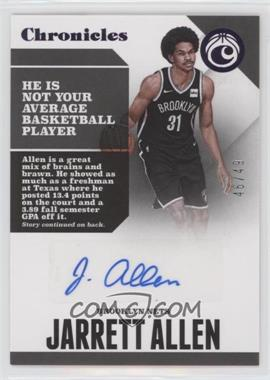 2017-18 Panini Chronicles - Autographs - Purple #CA-JAL - Jarrett Allen /49