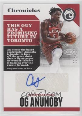 2017-18 Panini Chronicles - Autographs #CA-OGA - OG Anunoby /199