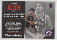 Rookies - Jarrett Allen #/99