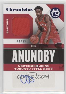 2017-18 Panini Chronicles - Signature Swatches - Blue #CSS-OGA - OG Anunoby /99
