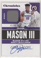 Frank Mason III #/49