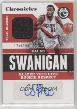 2017-18 Panini Chronicles - Signature Swatches #CSS-CSW - Caleb Swanigan /199