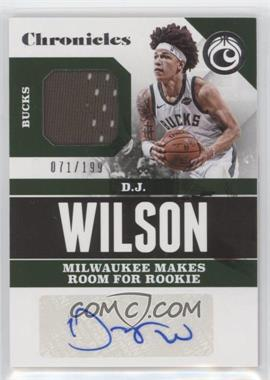 2017-18 Panini Chronicles - Signature Swatches #CSS-DJW - D.J. Wilson /199
