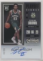Rookie - Sterling Brown #/65