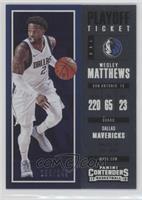 Season - Wesley Matthews #/249