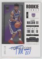 Rookie - Frank Mason III #/125