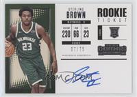 Rookie Horizontal Variation - Sterling Brown /75