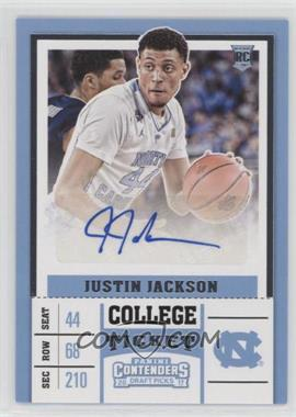 2017-18 Panini Contenders Draft Picks - [Base] #68.1 - College - Justin Jackson