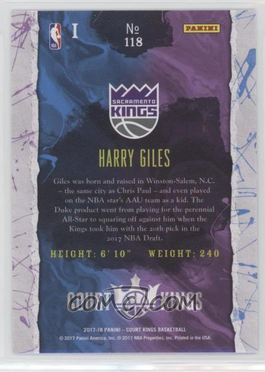 2017-2018 Harry Giles #53 Essentials Basketball Rookie RC ... |Harry Giles Basketball