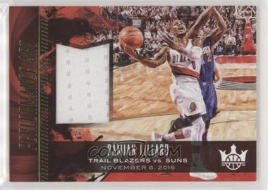 2017-18 Panini Court Kings - Performance Art Jerseys #PA-DL - Damian Lillard /299