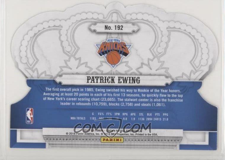 2017-18 Panini Crown Royale - [Base] #192 - Patrick Ewing