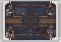 Andrew Wiggins, Jeff Teague, Jimmy Butler, Karl-Anthony Towns #/25