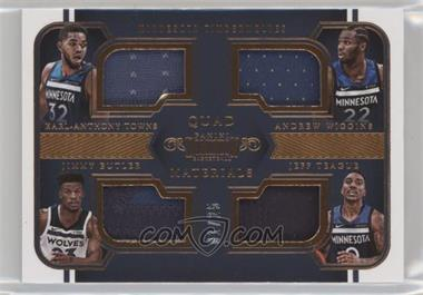2017-18 Panini Dominion - Quad Materials - Bronze #18 - Andrew Wiggins, Jeff Teague, Jimmy Butler, Karl-Anthony Towns /25