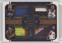 Davon Reed, Dennis Smith Jr., Donovan Mitchell, John Collins #/25