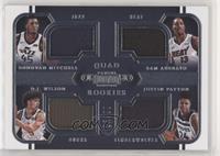 Donovan Mitchell, Bam Adebayo, Justin Patton, D.J. Wilson #/99