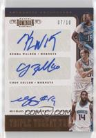 Cody Zeller, Kemba Walker, Michael Kidd-Gilchrist #/10