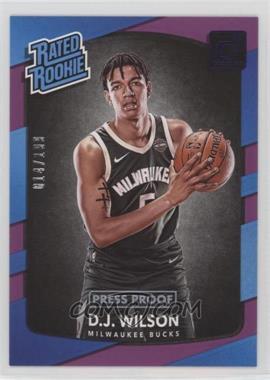 2017-18 Panini Donruss - [Base] - Press Proof Purple #184 - Rated Rookies - D.J. Wilson /199
