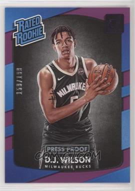 2017-18 Panini Donruss - [Base] - Press Proof Purple #184 - Rated Rookies - D.J. Wilson /199