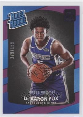 2017-18 Panini Donruss - [Base] - Press Proof Purple #196 - Rated Rookies - De'Aaron Fox /199