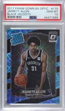 2017-18 Panini Donruss Optic - [Base] - Black Velocity Prizm #179 - Rated Rookies - Jarrett Allen /39 [PSA 10 GEM MT]