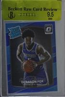Rated Rookies - De'Aaron Fox /49 [BRCR 9.5]