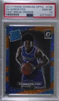 Rated Rookies - De'Aaron Fox [PSA 10 GEM MT] #/193