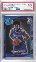 Rated Rookies - De'Aaron Fox [PSA 9 MINT] #/155