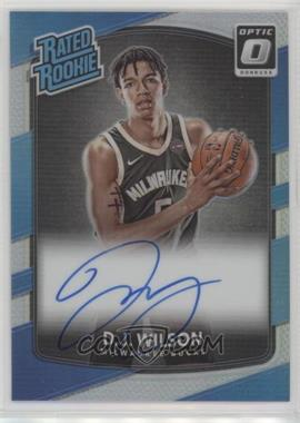 2017-18 Panini Donruss Optic - [Base] - Holo Signatures [Autographed] #184 - Rated Rookies - D.J. Wilson