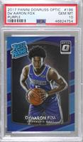 Rated Rookies - De'Aaron Fox [PSA 10 GEM MT]