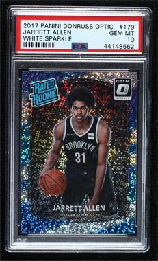 2017-18 Panini Donruss Optic - [Base] - White Sparkle Prizm #179 - Rated Rookies - Jarrett Allen [PSA 10 GEM MT]